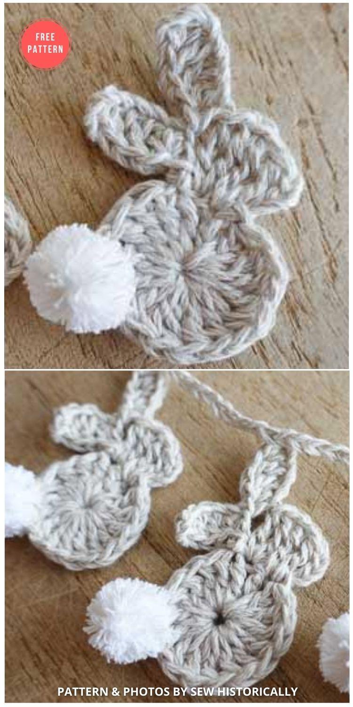 Crochet Easter Bunny Garland - 13 Free Easter Garland Crochet Patterns
