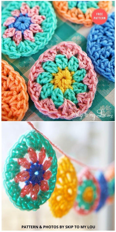 Crochet Easter Egg Garland - 13 Free Easter Garland Crochet Patterns (1)