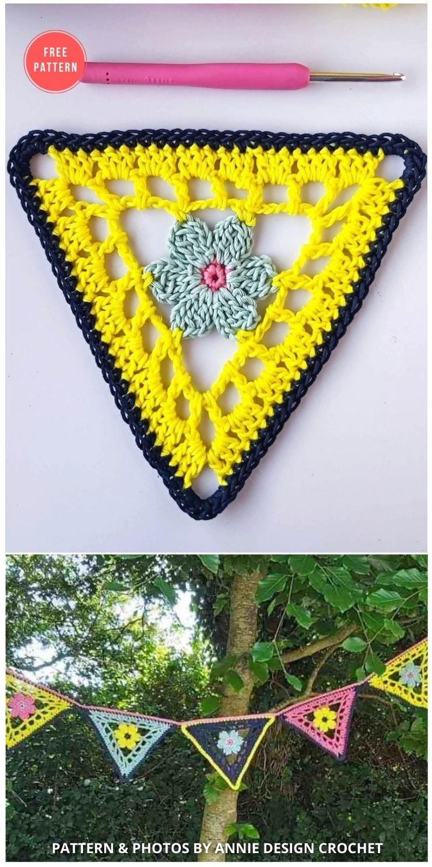 Crochet Flower Bunting – Free Pattern - 13 Free Easter Garland Crochet Patterns