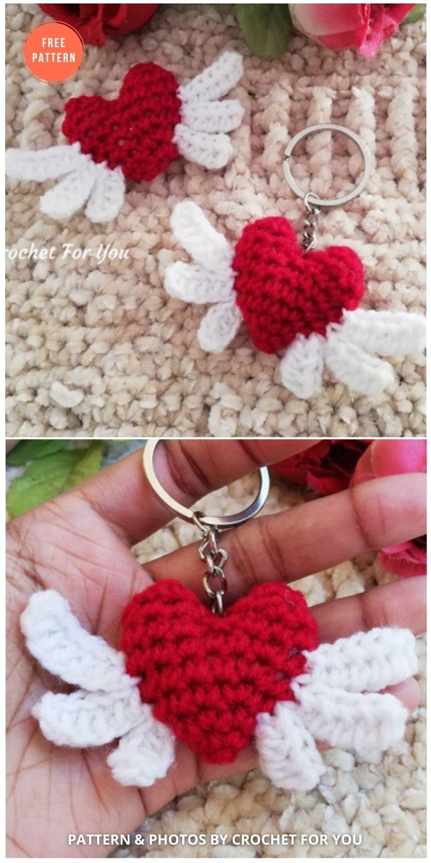 Crochet Heart Angel Free Pattern - 10 Free Amigurumi Hearts Crochet Patterns