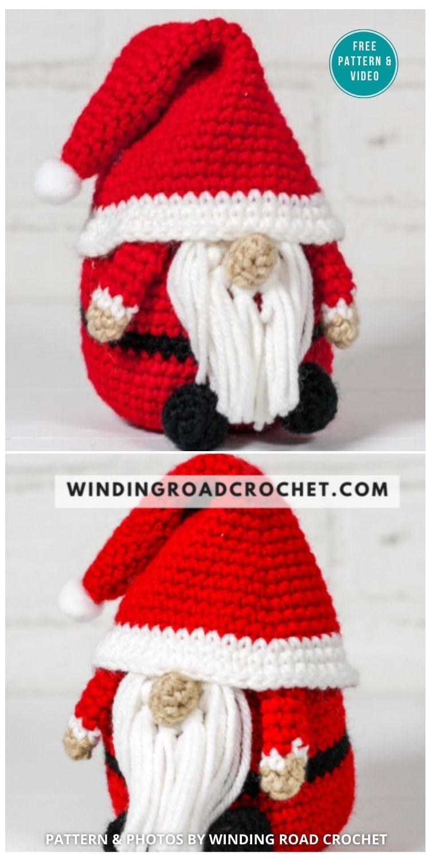 Crochet Santa Gnome Pattern - 9 Free Winter Gnomes Crochet Patterns