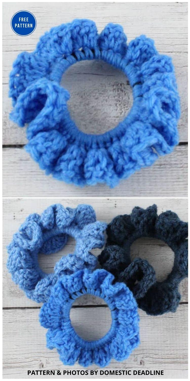 Crochet Scrunchies - 15 Free Crochet Scrunchies