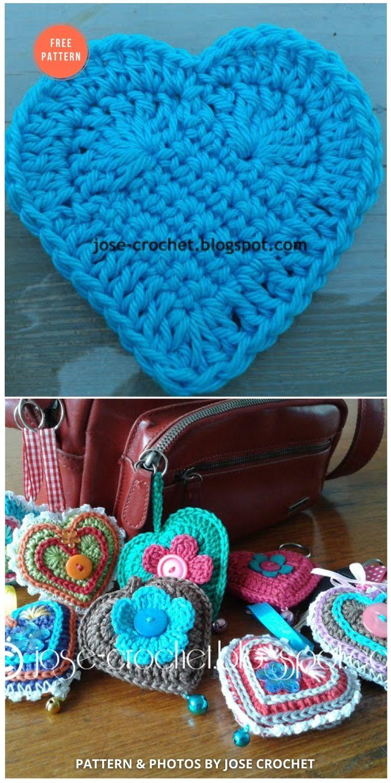 Crochet hearts - 10 Free Amigurumi Hearts Crochet Patterns