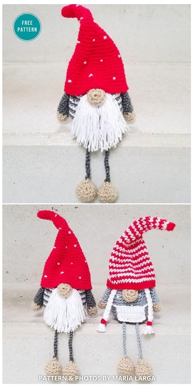 Danish Christmas Gnome - 9 Free Winter Gnomes Crochet Patterns