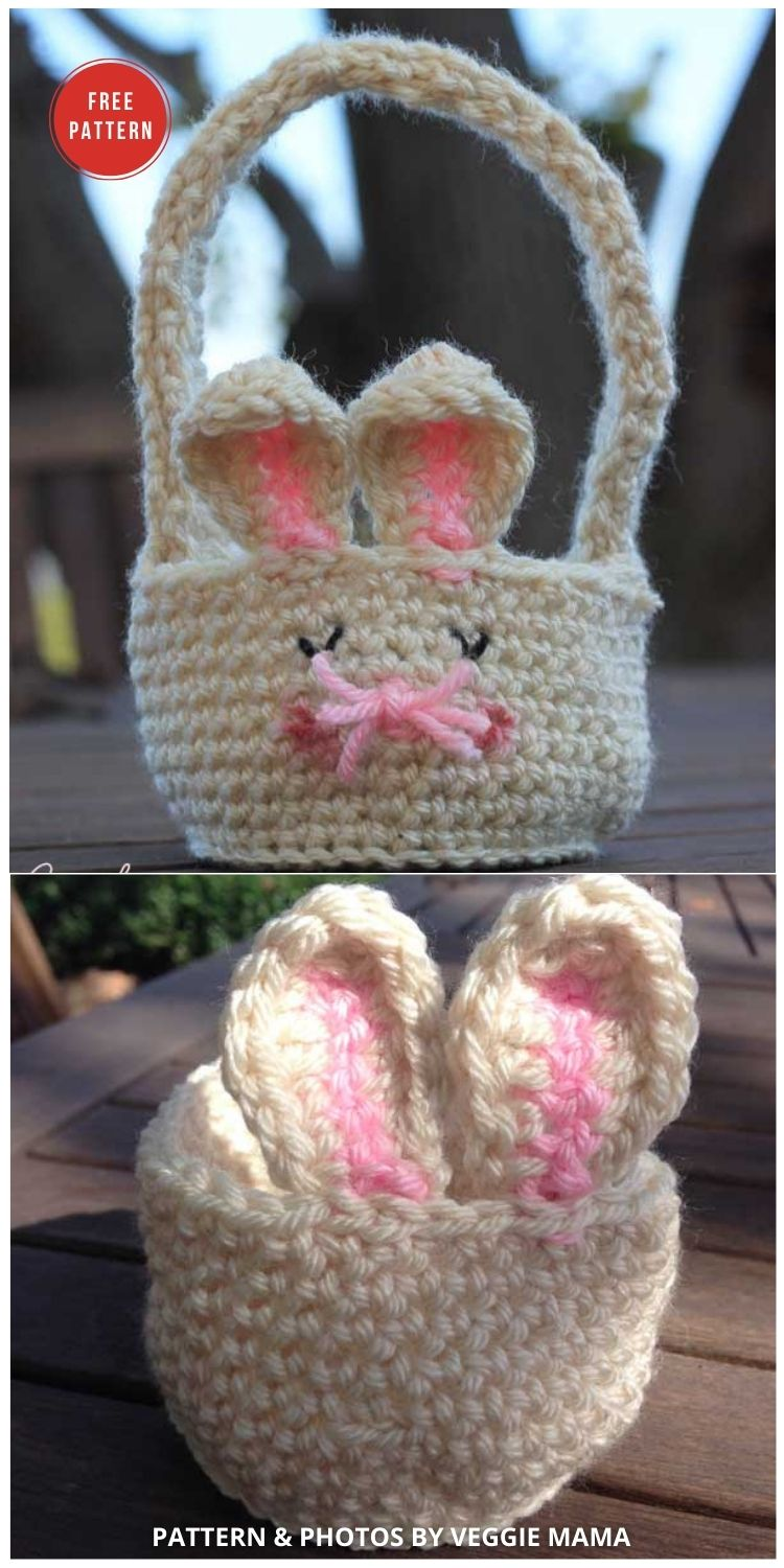 Easter Bunny Baskets - 10 Free Patterns For Cute Easter Baskets