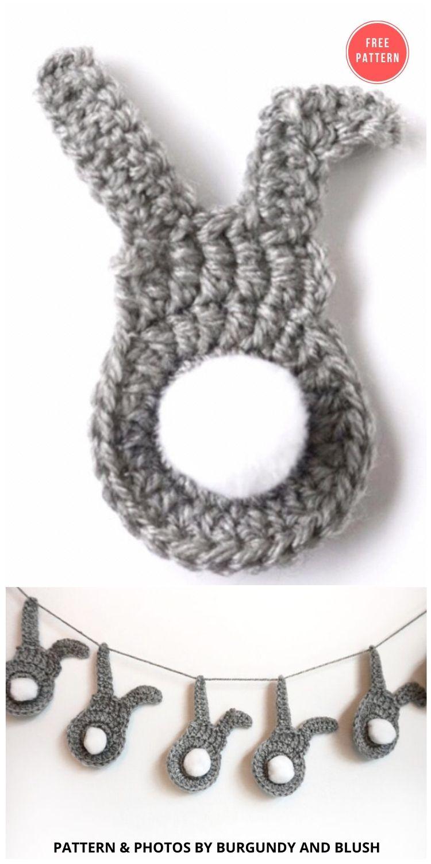 Easter Bunny Crochet Pattern - 13 Free Easter Garland Crochet Patterns