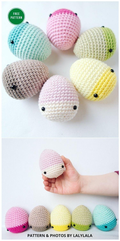 Easter Bunny Eggs - 12 Free Easter Egg Crochet Patterns