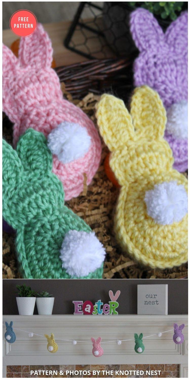 Easter Bunny Garland - 13 Free Easter Garland Crochet Patterns