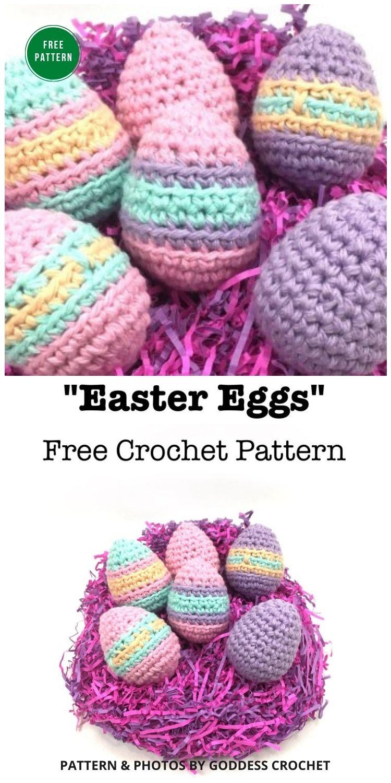 Easter Eggs - Free CRochet Patterns - 12 Free Easter Egg Crochet Patterns