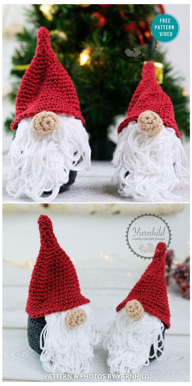 How To Crochet A Mini Gnome - 9 Free Winter Gnomes Crochet Patterns