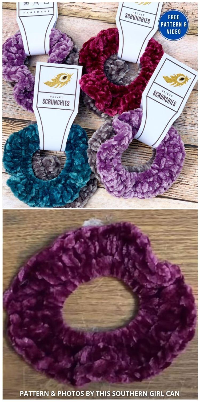 How To Crochet Easy Hair Scrunchies - 15 Free Crochet Scrunchies