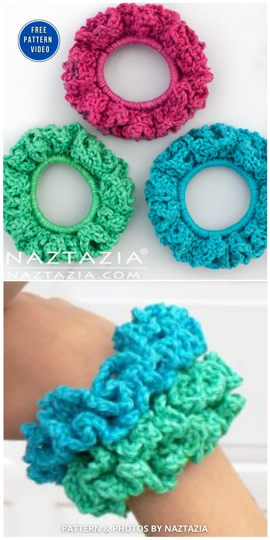 How to Crochet Scrunchies - 15 Free Crochet Scrunchies