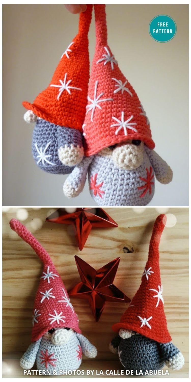 Little _Fino_ A free amigurumi Christmas Gnome Pattern - 9 Free Winter Gnomes Crochet Patterns
