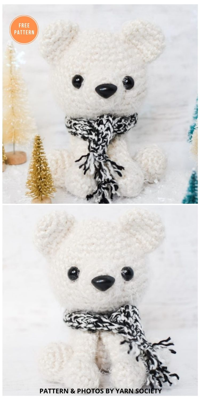 Parker The Polar Bear - 11 Free Polar Bear Amigurumi Toy Patterns