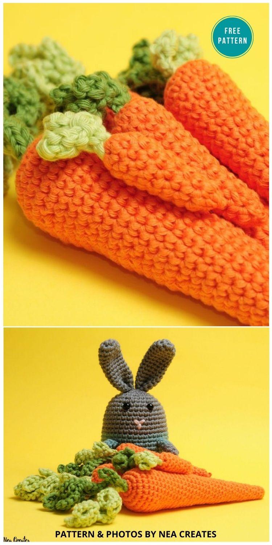 Perfect Crochet Carrot - 10 Free Amigurumi Carrot Crochet Patterns