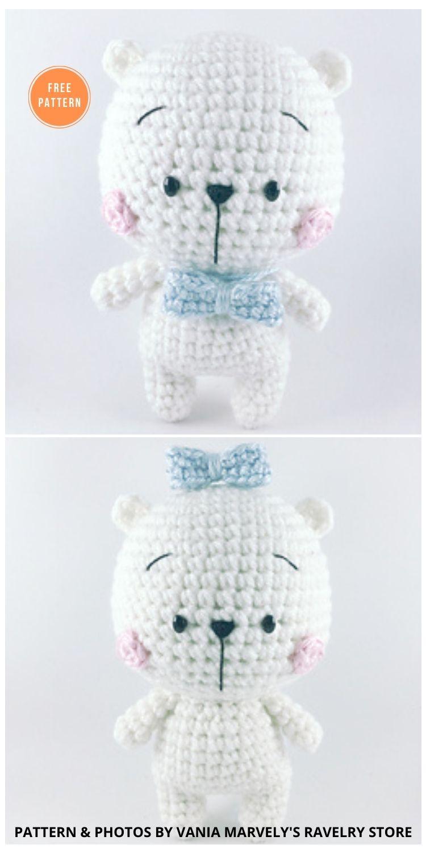 Polar Bear - 11 Free Polar Bear Amigurumi Toy Patterns
