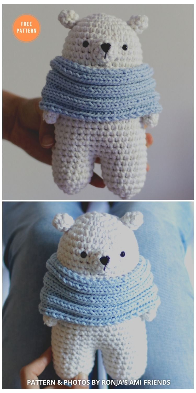 Polar Bear Free Crochet Pattern - 11 Free Polar Bear Amigurumi Toy Patterns