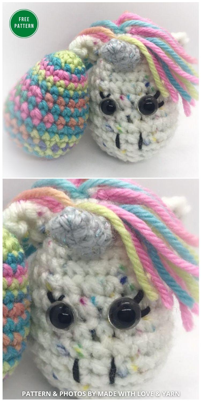 Unicorn Easter Egg - 12 Free Easter Egg Crochet Patterns