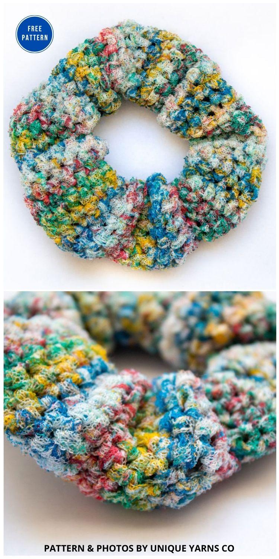Vintage Scrunchies - 15 Free Crochet Scrunchies