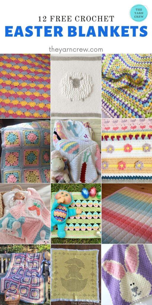 12 Free Crochet Easter Blankets - PIN2
