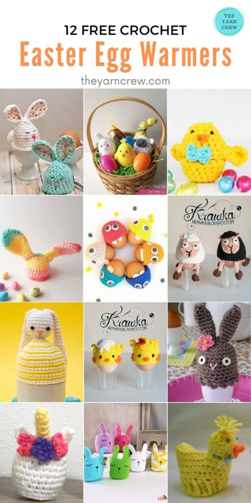 12 Free Crochet Easter Egg Warmers - PIN2