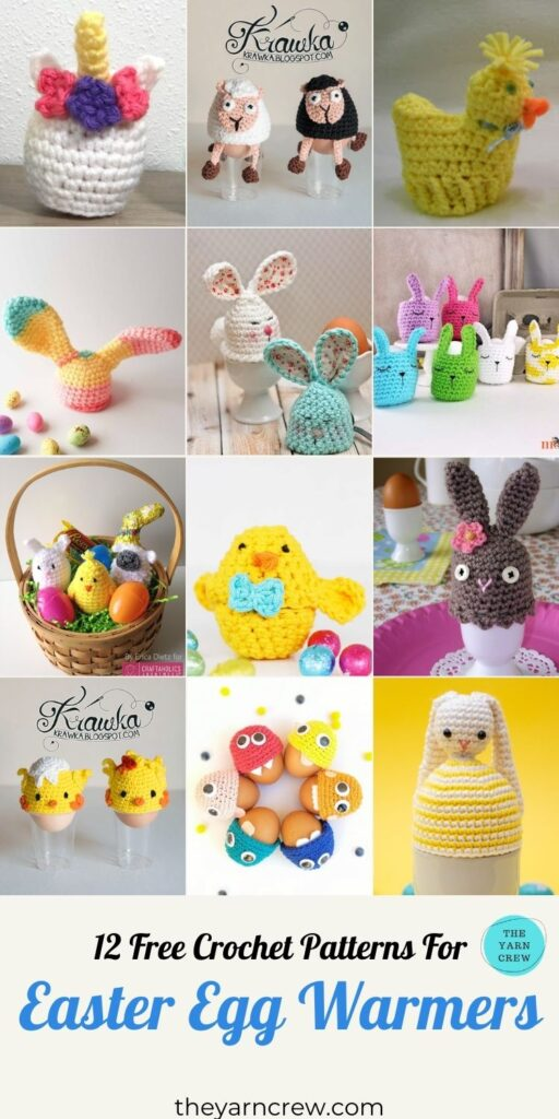 12 Free Crochet Patterns For Easter Egg Warmer - PIN3