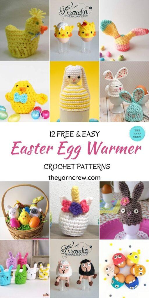 12 Free & Easy Easter Egg Warmer Crochet Patterns - PIN1