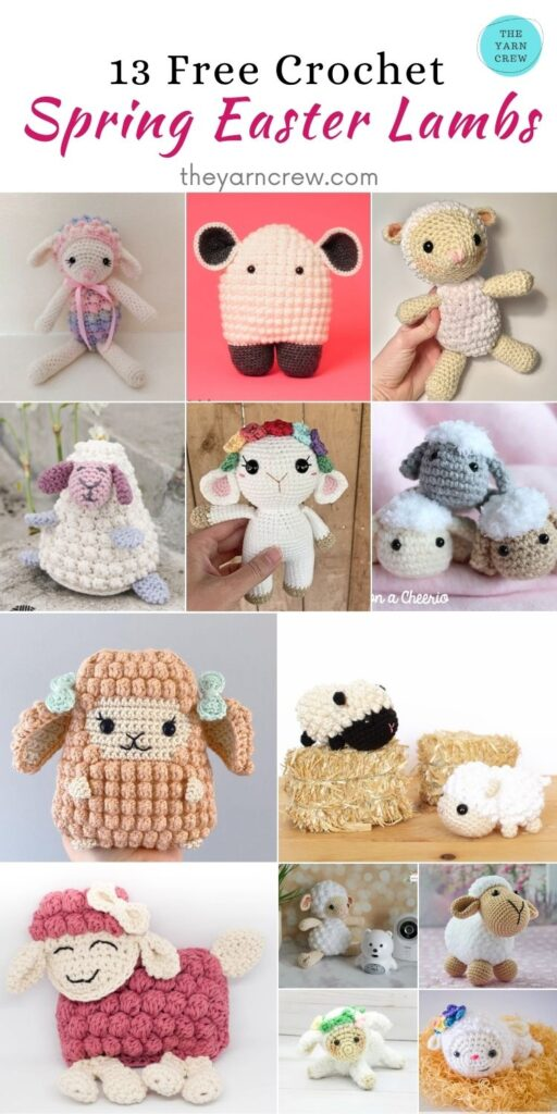 13 Free Crochet Easter Spring Lambs - PIN2