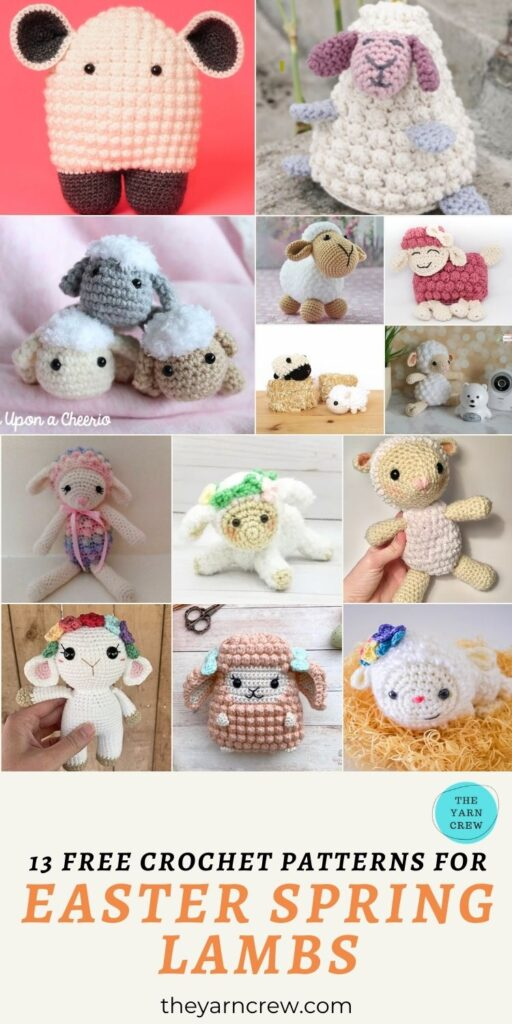 13 Free Crochet Patterns For Easter Spring Lambs - PIN3