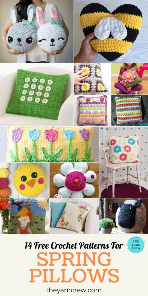 14 Free Crochet Patterns For Spring Pillows-PIN 3
