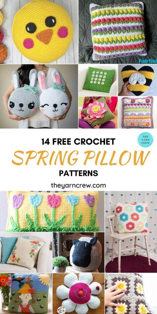 14 Free Crochet Spring Pillow Patterns - PIN1