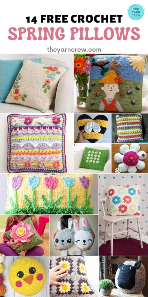 14 Free Crochet Spring Pillows - PIN2 (1)