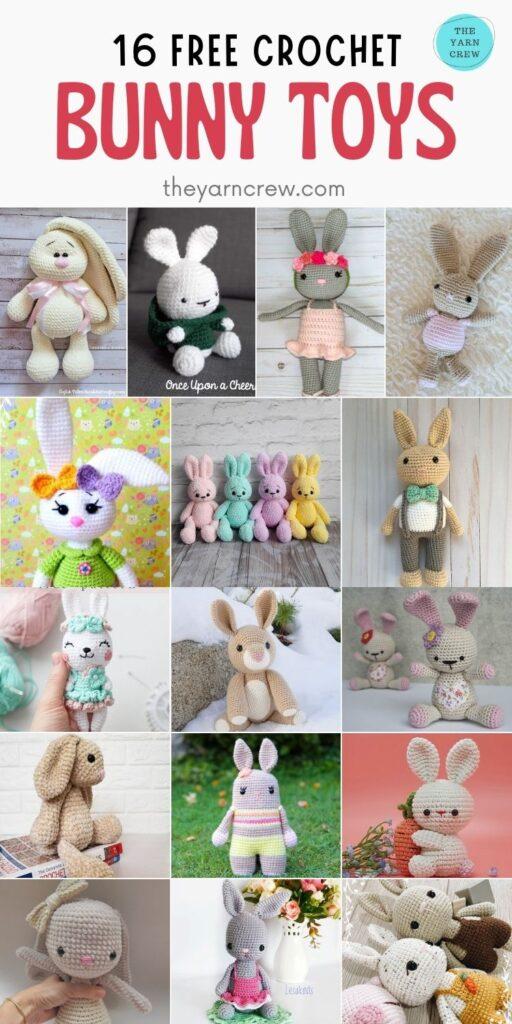 16 Free Crochet Bunny Toys - PIN2