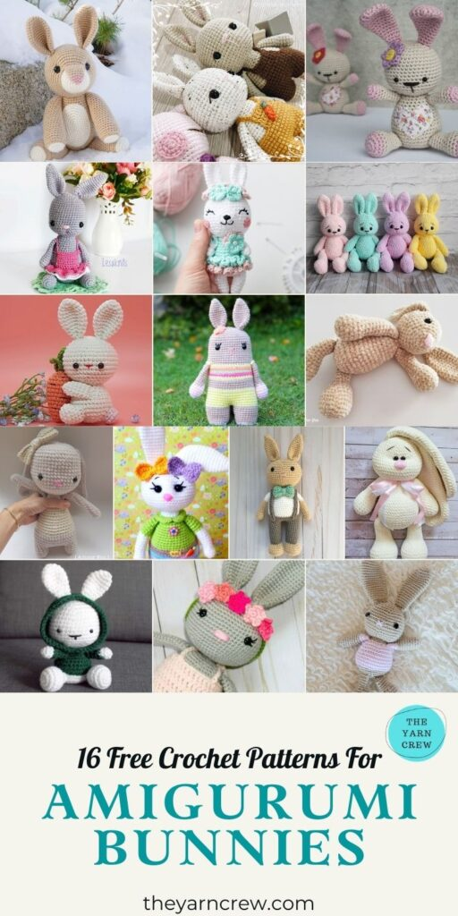 16 Free Crochet Patterns For Amigurumi Bunnies - PIN3