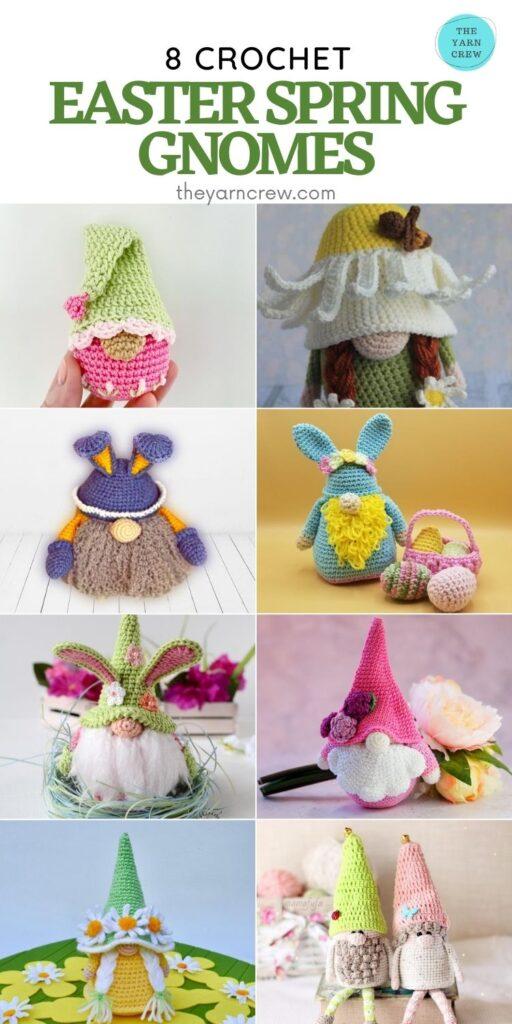 8 Crochet Easter Spring Gnomes - PIN2