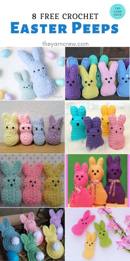 8 Free Crochet Easter Peeps - PIN2