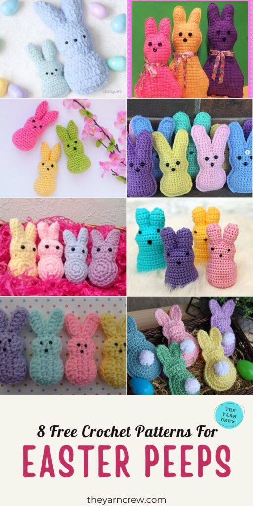 8 Free Crochet Patterns For Easter Peeps - PIN 3