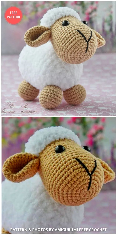 Amigurumi Sheep Free Pattern - 13 Free Easter Spring Lamb Crochet Patterns