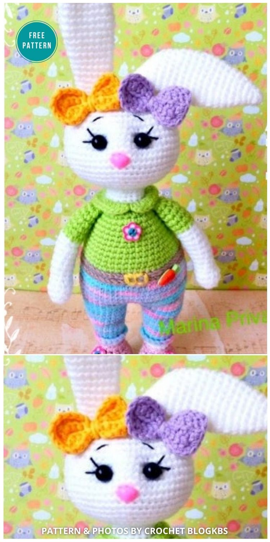 Amigurumi Sweet Bunny Free Crochet Patterns - 16 Free Amigurumi Bunny Toy Crochet Patterns