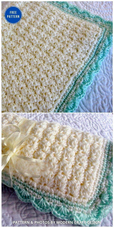 Baby Blanket _ Free Pattern - 15 Free Yellow Baby Blanket Crochet Patterns