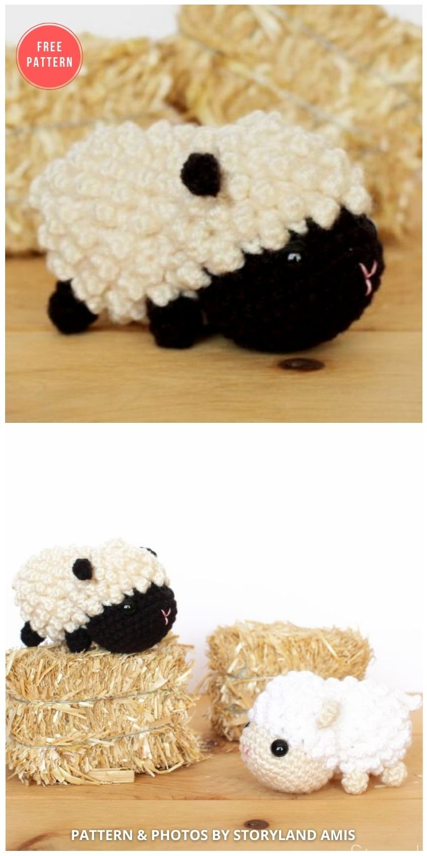 Baby Lamb Farm Animal - 13 Free Easter Spring Lamb Crochet Patterns