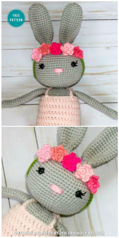 Ballerina Bunny - 16 Free Amigurumi Bunny Toy Crochet Patterns