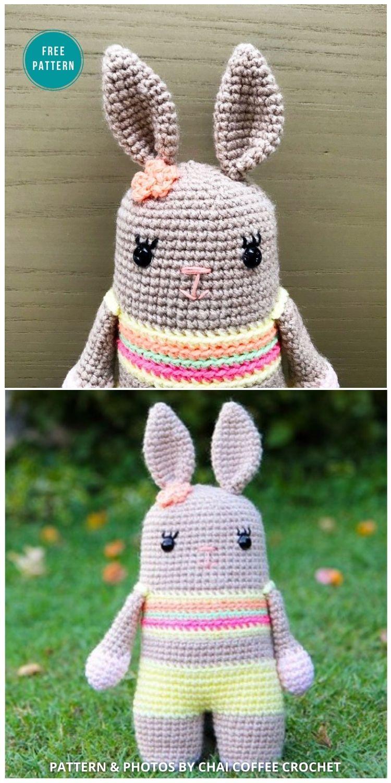 Bixie The Crochet Bunny - 16 Free Amigurumi Bunny Toy Crochet Patterns