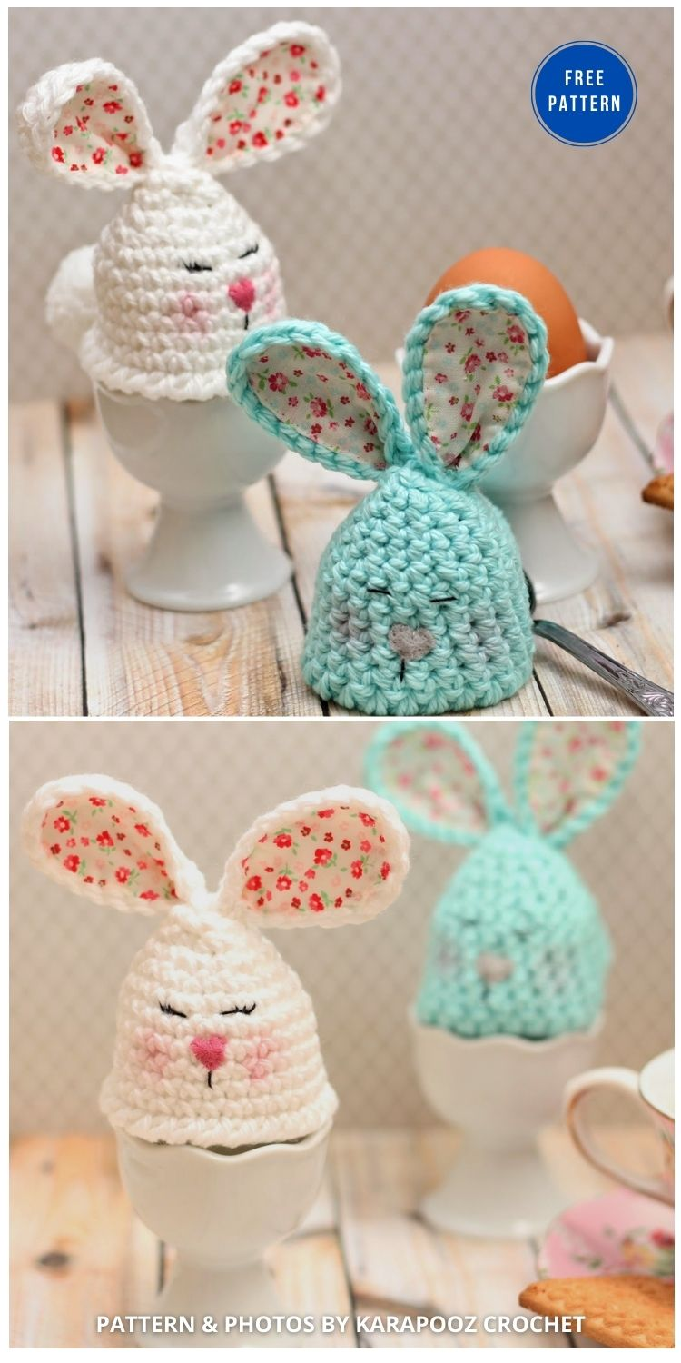 Bunny Egg Warmer - 12 Easy Easter Egg Warmer Crochet Patterns