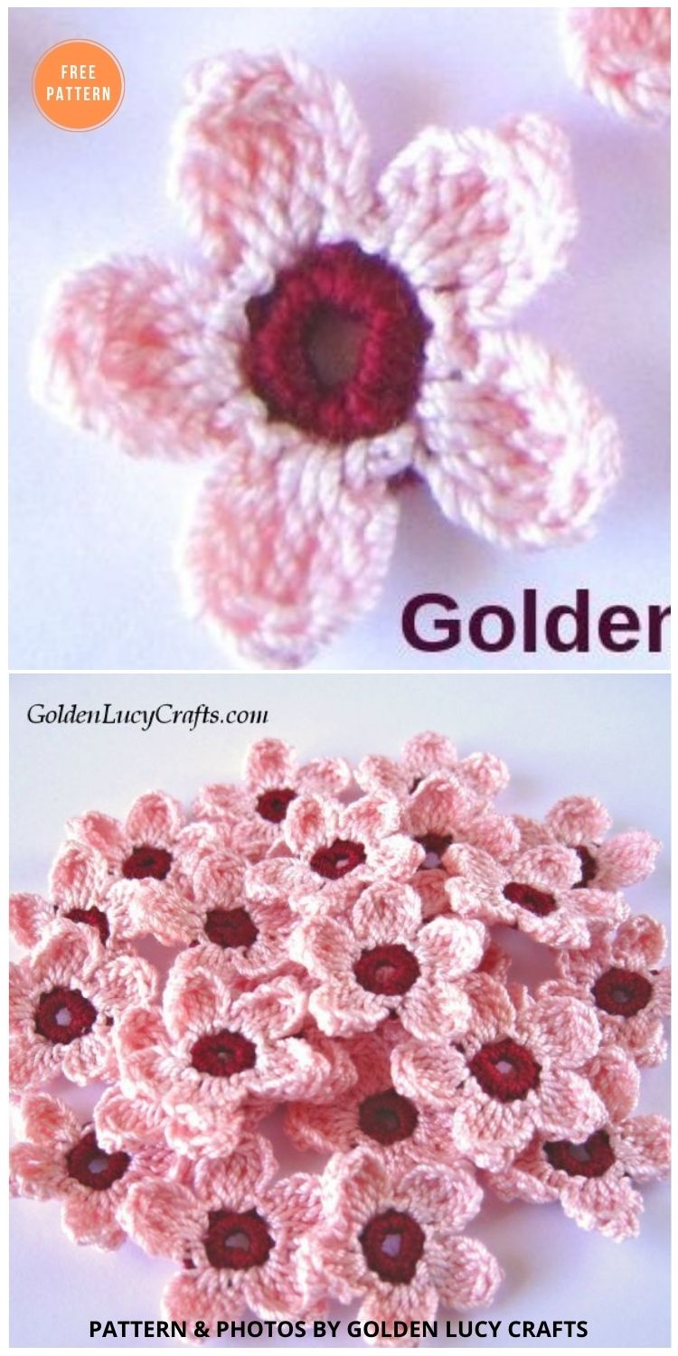 Cherry Blossoms Crochet Pattern - 12 Beautiful Spring Flower Crochet Patterns