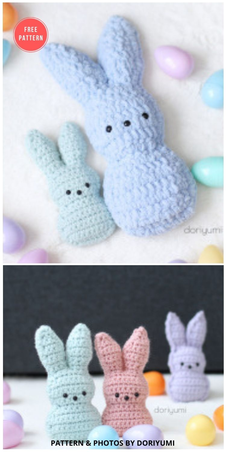 Chillin' With The Peeps - 8 Free Crochet Easter Peep Patterns