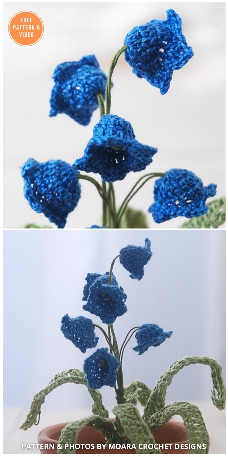 Crochet Bluebell - 12 Beautiful Spring Flower Crochet Patterns