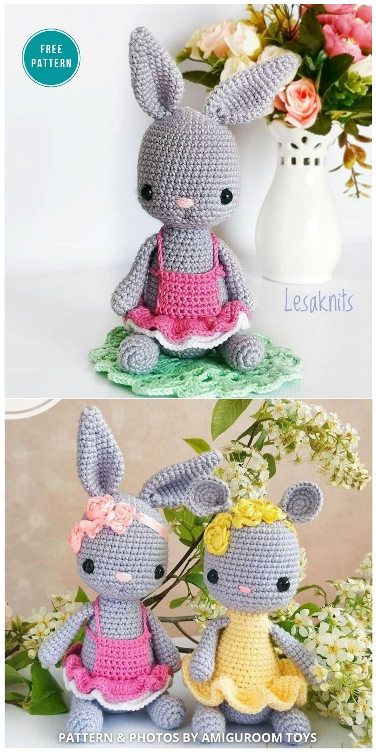 Crochet Bunny And Mouse Pattern - 16 Free Amigurumi Bunny Toy Crochet Patterns