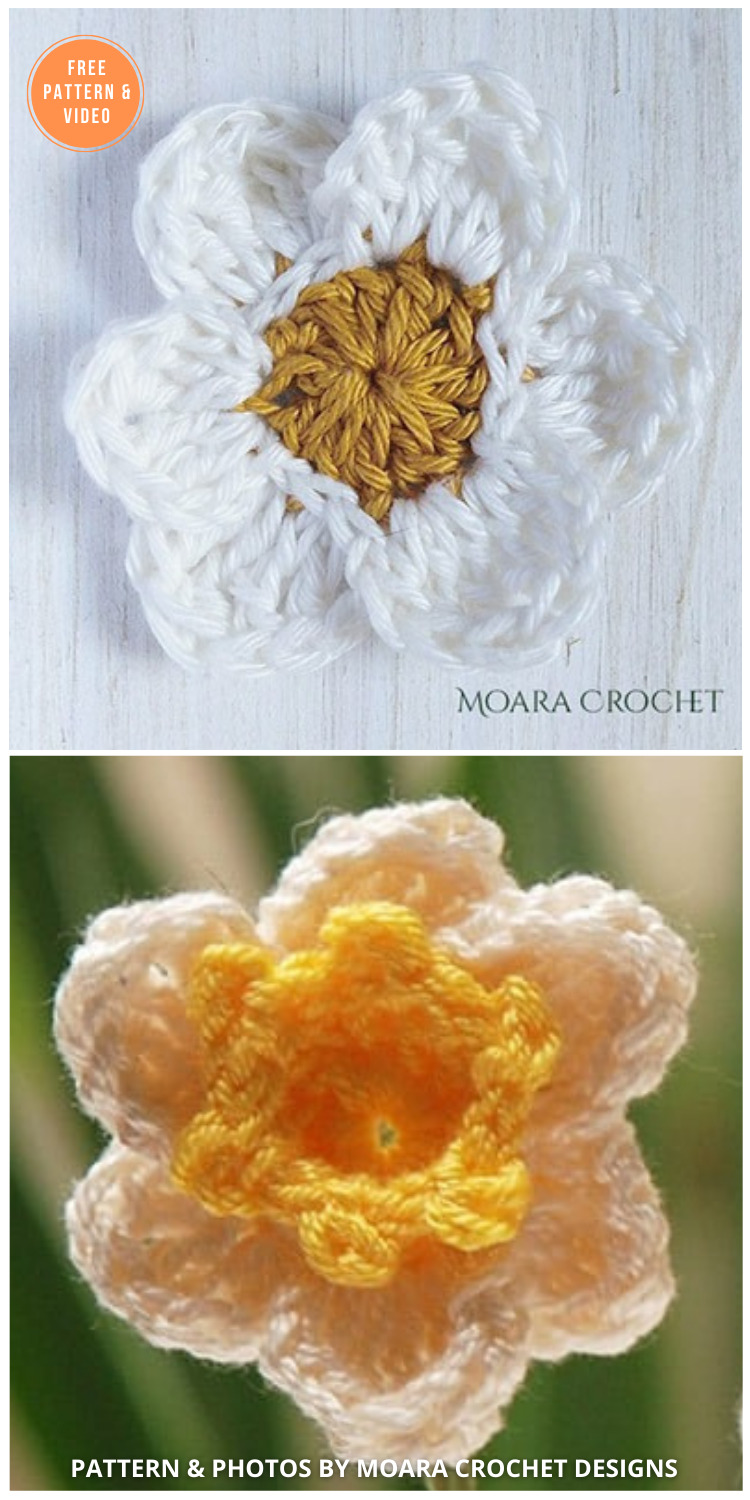 Crochet Daffodil Flower - 12 Beautiful Spring Flower Crochet Patterns