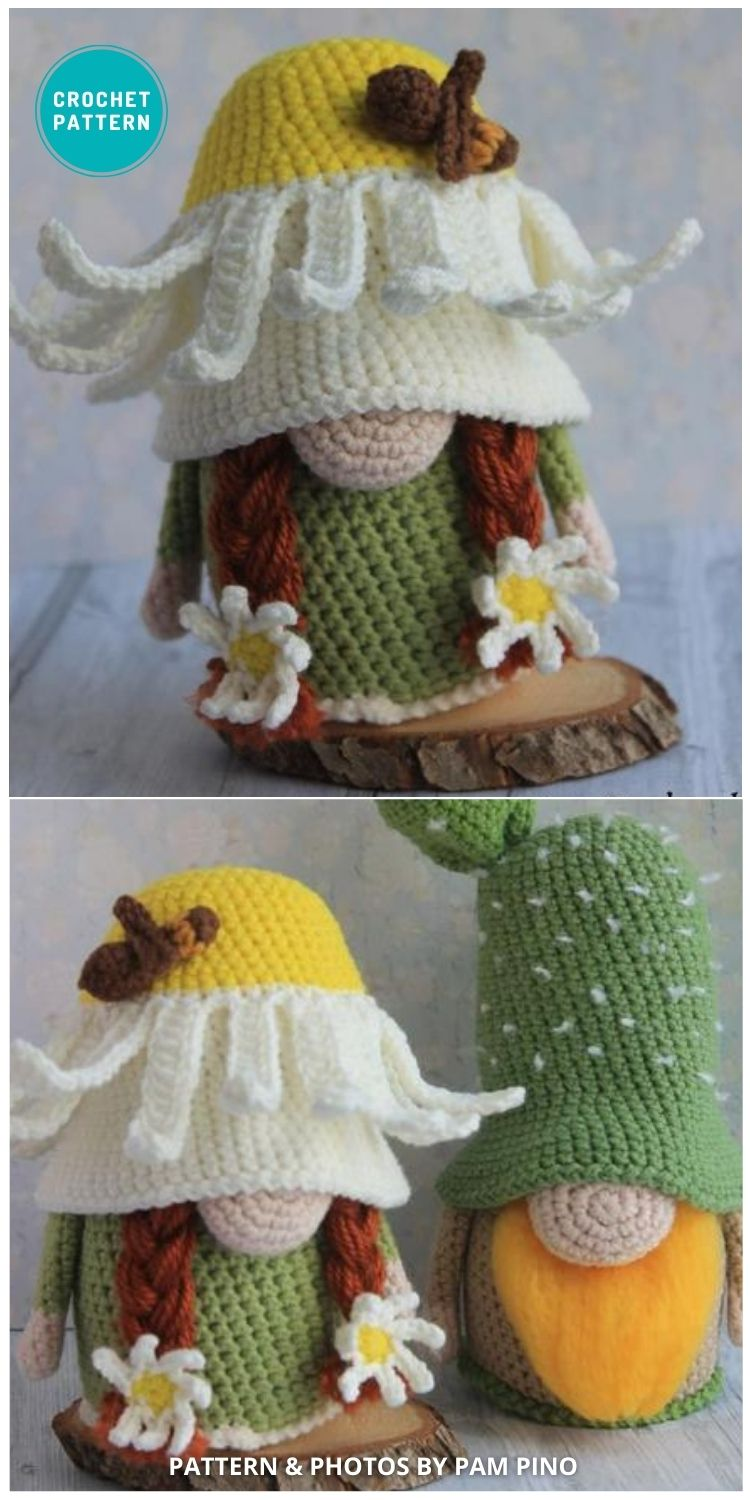 Crochet Daisy Gnome Pattern - 8 Gorgeous Spring Easter Gnomes Crochet Patterns